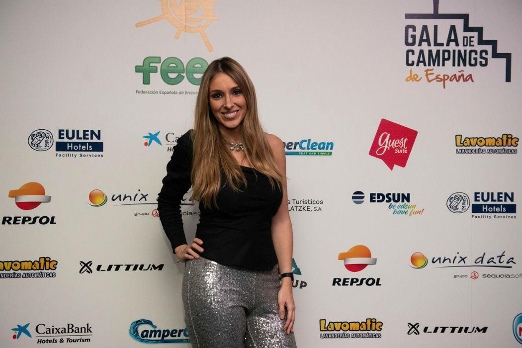 Beatriz Solano, con Littium en los premios de la Federación Española de Campings (FEEC)